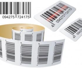 Barcode design Elements vector set 06