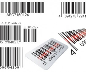Barcode design Elements vector set 07