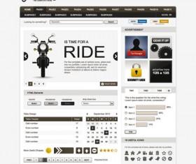 Exquisite Web design EPS template vector 01