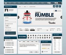 Exquisite Web design EPS template vector 02