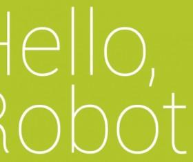 16 hello Roboto font