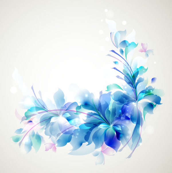blue color lily flower background vector 03 free download