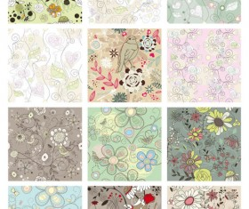 Floral Pattern vector Collection 01