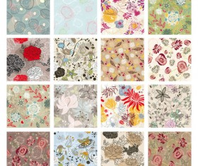 Floral Pattern vector Collection 02