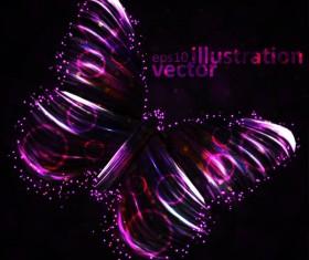 Transparent Butterfly vector Illustration 01