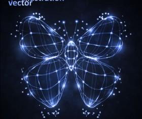 Transparent Butterfly vector Illustration 02
