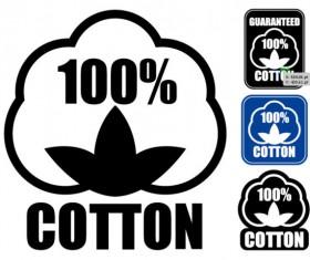 Guaranteed 100% cotton vector Label 01