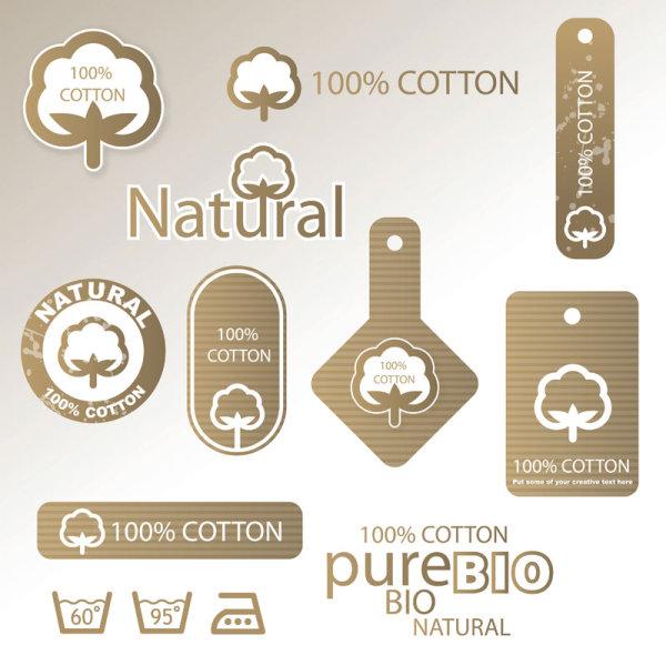 Guaranteed 100% cotton vector Label 02