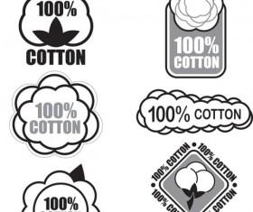 Guaranteed 100% cotton vector Label 03