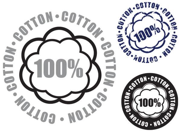 Guaranteed 100% cotton vector Label 04