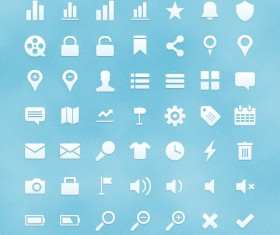 Set of website user interface icons