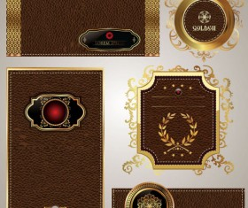 Leather label free vector 01