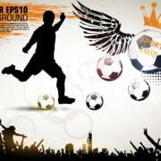 Link toFootball theme poster vector 03