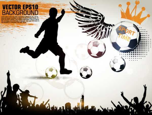Football theme Poster vector 03