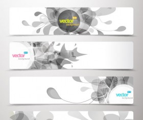 Abstract Creative banner free vector 02