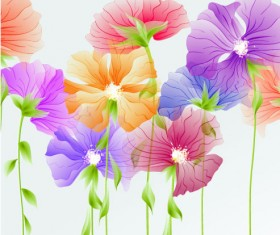 Bright with Flowers free vector 03