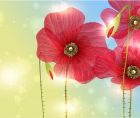 Bright with Flowers free vector 05