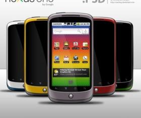 Nexus One GUI Layered PSD