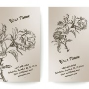 Link toSet of vintage with flowers cards vector 02