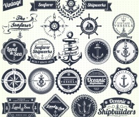Vintage Navigation Label vector 01