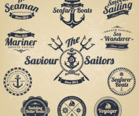 Vintage Navigation Label vector 02