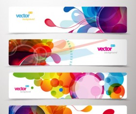 Abstract Creative banner free vector 04