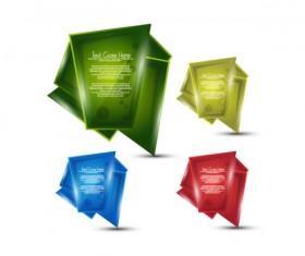 Origami paper design Elements vector part-4