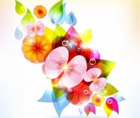 Halation color Floral free Vector Graphic