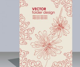 folder design vector Floral background 01