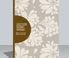 folder design vector Floral background 02