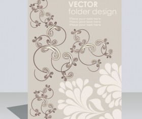 folder design vector Floral background 03