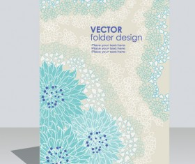 folder design vector Floral background 04