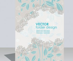 folder design vector Floral background 05