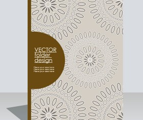 folder design vector Floral background 06