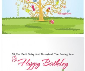 Festival Greeting Cards vector background 02