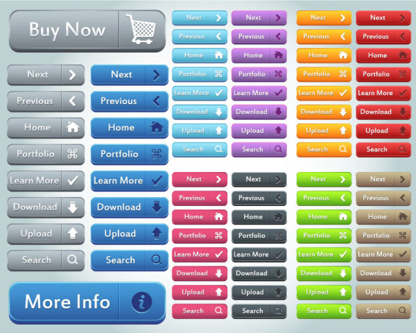 Button Collection (buy ,Download ,Upload ,Search Button