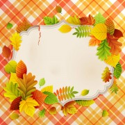 Link toFlowers & leaf vector photo frame 02