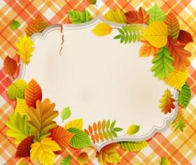 Flowers & Leaf vector Photo Frame 02