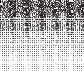 Letter Puzzle vector 03