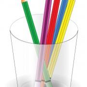 Link toColorful pencil and pencil barrel vector