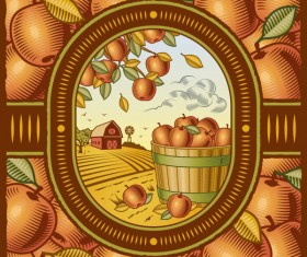 The harvest season cartoon vector 01