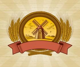 The harvest season cartoon vector 02