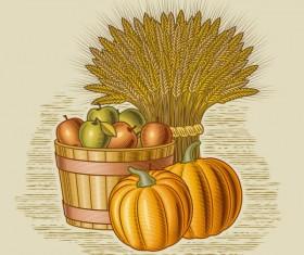 The harvest season cartoon vector 05