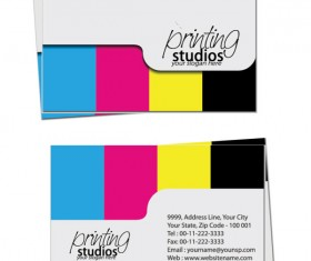 Business card template Complete Set vector 03