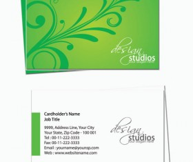 Business card template Complete Set vector 04