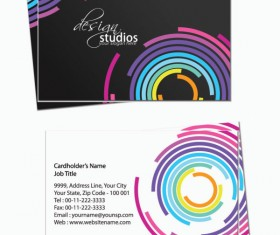 Business card template Complete Set vector 05