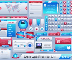free vector great web elements Complete Set