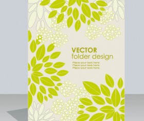 folder design vector Floral background 07