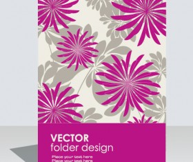 folder design vector Floral background 08