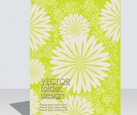 folder design vector Floral background 09